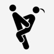 Glyph Sex Position pixel perfect vector icon