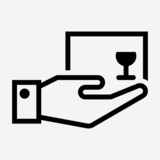 Outline supply pixel perfect vector icon - 242990770