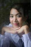 Portrait of thai high school student uniform teen beautiful girl happy and relax - 242993746