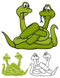 Fototapeta Dinusie - two snakes made mistakes, with bonus variations © Darla Hallmark