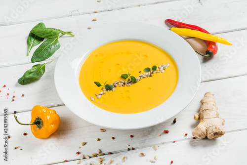Foto Murales cream soup with seeds