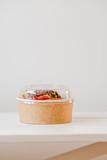 Take away salad in disposable paper bowl - 243007157