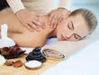 Leinwandbild Motiv Woman having massage in the spa salon