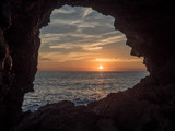 sunset in Ibiza cave