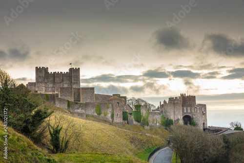 Dover Castle in England's southeastern county of Kent, United Kingdom