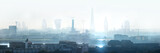 Fototapeta Fototapety miasto - London view the morning. Panorama include river Thames, Big Ben and houses of Parliament, City of London buildings in the early morning mist.  © IRStone