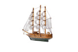 Sail ship toy isolated on the white background. - 243043189