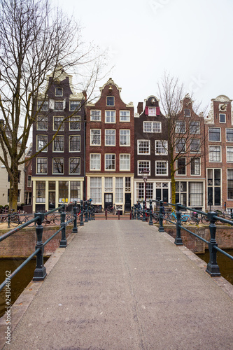 beautiful streets  in the amsterdam