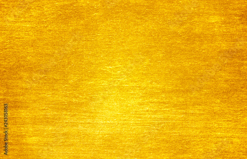 Shiny yellow leaf gold foil