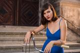 Girl on bicycle  - 243061182
