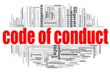 Code of conduct word cloud - 243075195
