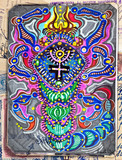 Scorpio. Drawing with ethnic and esoteric figures