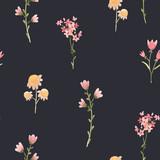 Watercolor floral vector pattern - 243085945