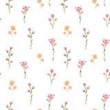 Watercolor floral vector pattern - 243085951