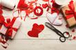 Valentine day handmade scrapbooking background