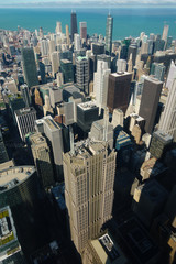 Aerial view of Chicago skyscrapers