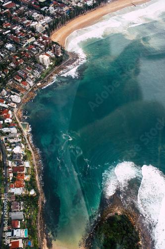 Aerial view coast line