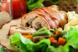 Chicken breast stuffed with champignon - 243098555