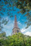 Fototapeta Fototapety z wieżą Eiffla - Eiffel Tower in Paris, France © Aliaksei