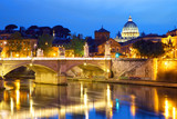 Fototapeta Fototapety pomosty - View of Vatican City in Rome at dusk, Italy © Oleksandr Dibrova