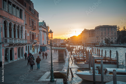 Water channels in the city of Venice - 243102320