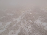 Aerial view at winter mountain - 243104728