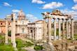 Quadro Ancient ruins in Roman Forum, Rome, Lazio, Italy