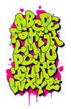 Graffiti comic alphabet. Vector font