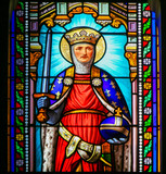 Saint Ferdinand - Stained Glass in Antibes Church - 243119537