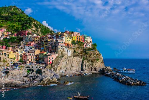 Leinwandbild Motiv Picturesque town of Manarola, Liguria, Italy
