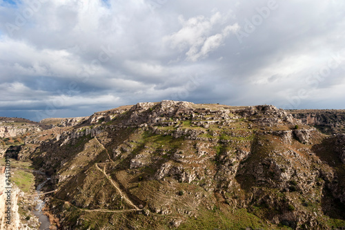 Foto Murales  Matera, the city of stones