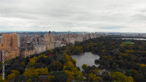 New York cityscape aerial view from Central park