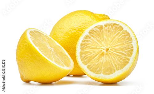 Foto Murales lemon isolated on white background