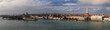 Panotama of the Venice lagoon towards San Marco square