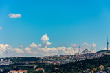 The view to the new and largest mosque in Turkey - 243154338