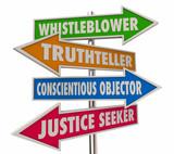 Whistleblower Words Signs 4 Arrows 3d Illustration - 243161133