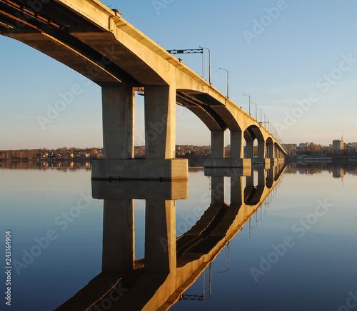 Wall mural Bridge over the Volga river in Kostroma, Russia