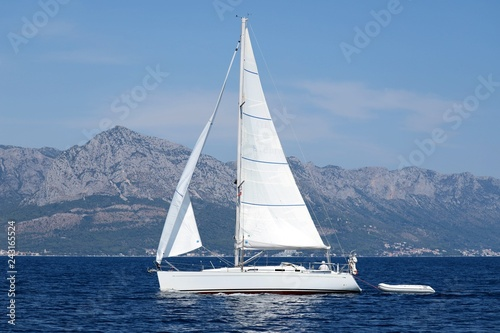 Sailboat at sea in Croatia