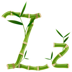Bamboo letter Z © ayax