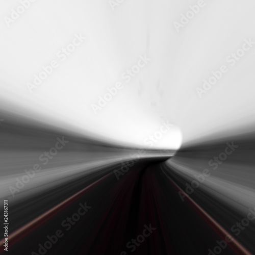 Abstract road tunnel