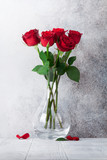 Red rose flowers bouquet