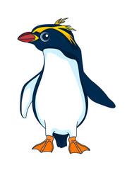 Penguin. Figure stylized cartoon style. Isolated background. Vector © elfhame
