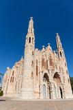 Facade of the Sanctuary of Santa Maria Magdalena near  Castillo de la Mola in Novelda, Province of Alicante, Spain, Europe - 243175184