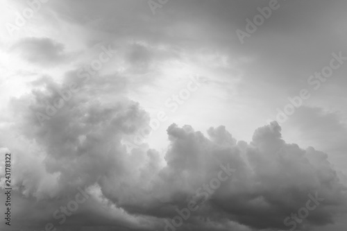 Grey storm clouds