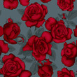 Seamless pattern with red roses. - 243179755