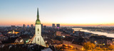 St. Martin's cathedral in Bratislava, Slovakia during sunrise.