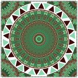 Flyers, Banner Template With Mandala Ornament. Vector Design. Ottoman, Arabic, Oriental, Turkish, Indian,Motif. - 243188392