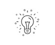 Idea line icon. Light bulb sign. Copywriting symbol. Geometric shapes. Random cross elements. Linear Idea icon design. Vector