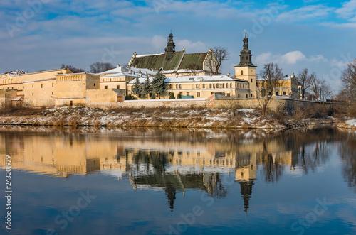 obraz PCV Krakow, Poland, winter landscape of Vistula river and Norbertine sisters monastery