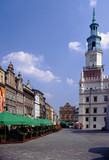 Poznan, Poland - July, 2008: main square and town hall in Poznan